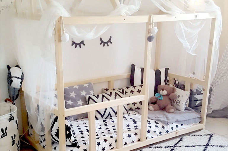 Chambre lit cabane montessori