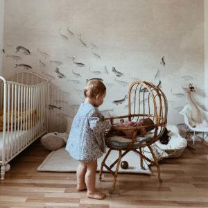 Déco chinée pour chambre de bébé