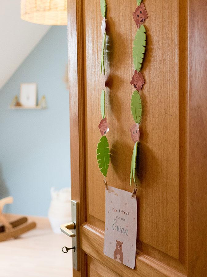 Une décoration tropicale pour la chambre de mon enfant